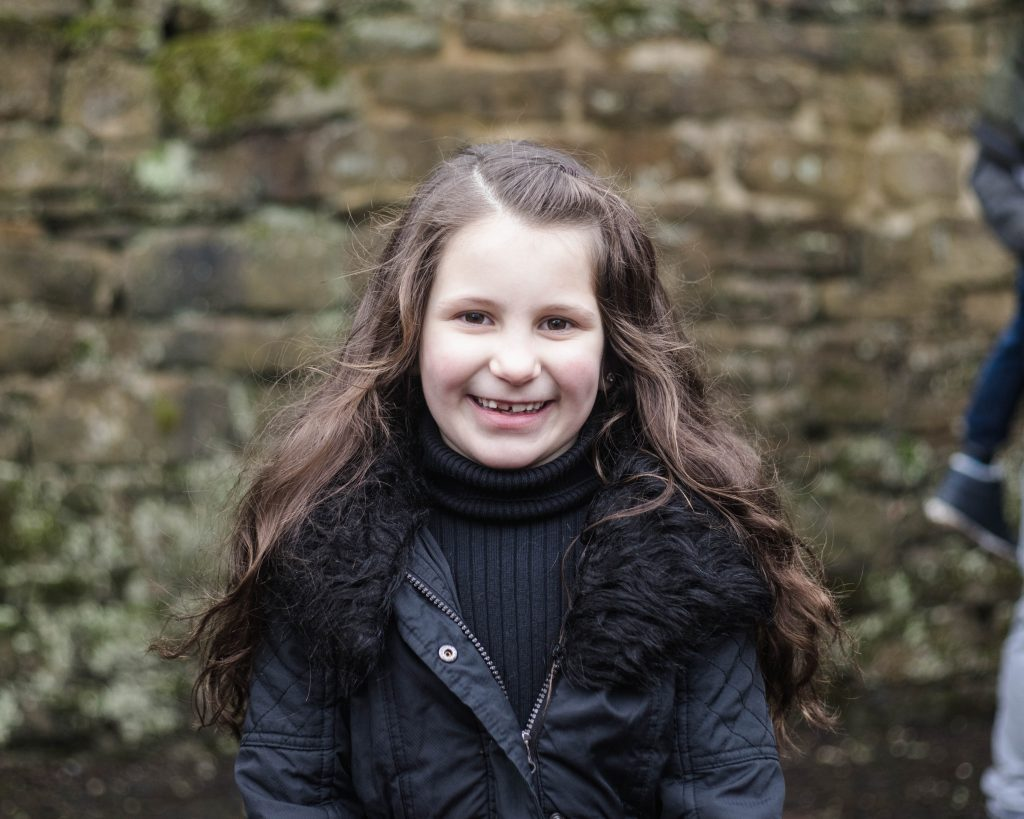Smiles from the little girl, creative Lancashire photographer.