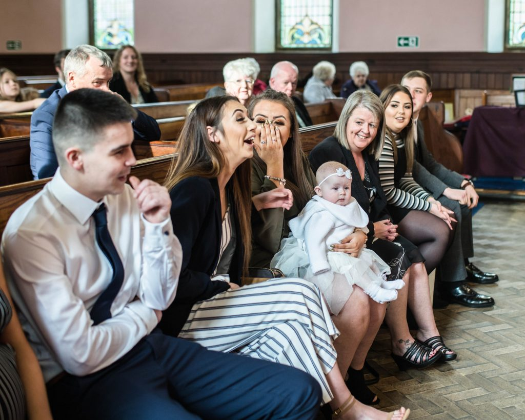Laughter during the church, documentary photography Lancashire.