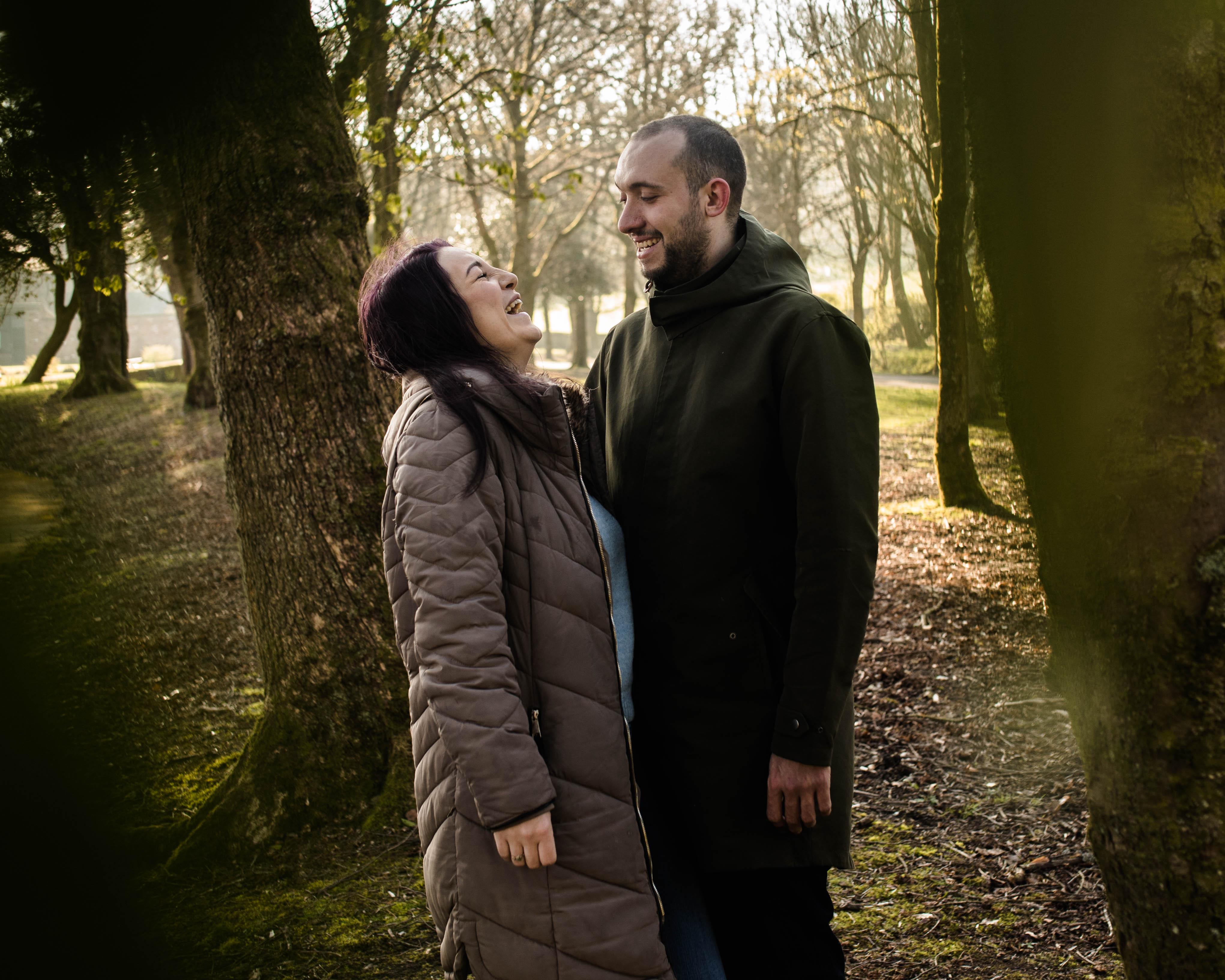 A Sunny Lancashire engagement photoshoot at StubbyLee Park