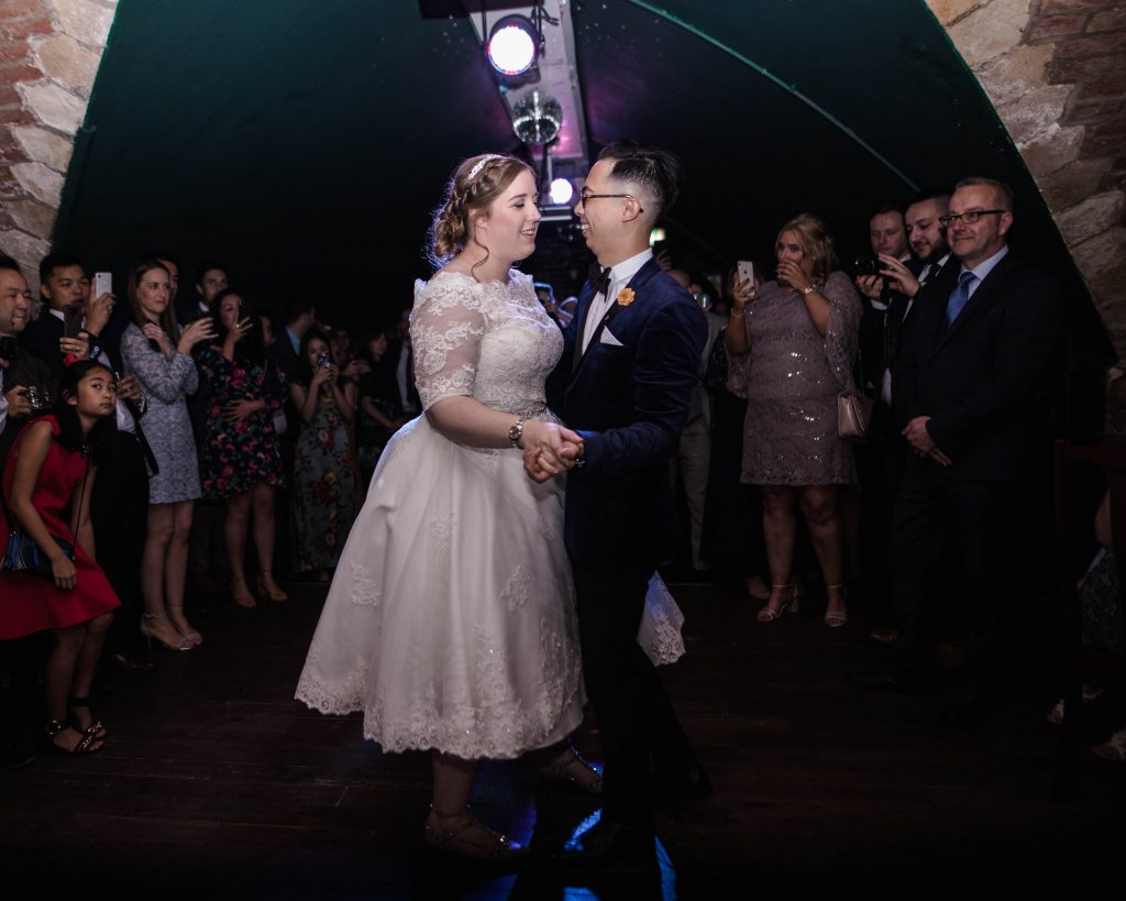 The first dance at Lock 91 in Manchester.
