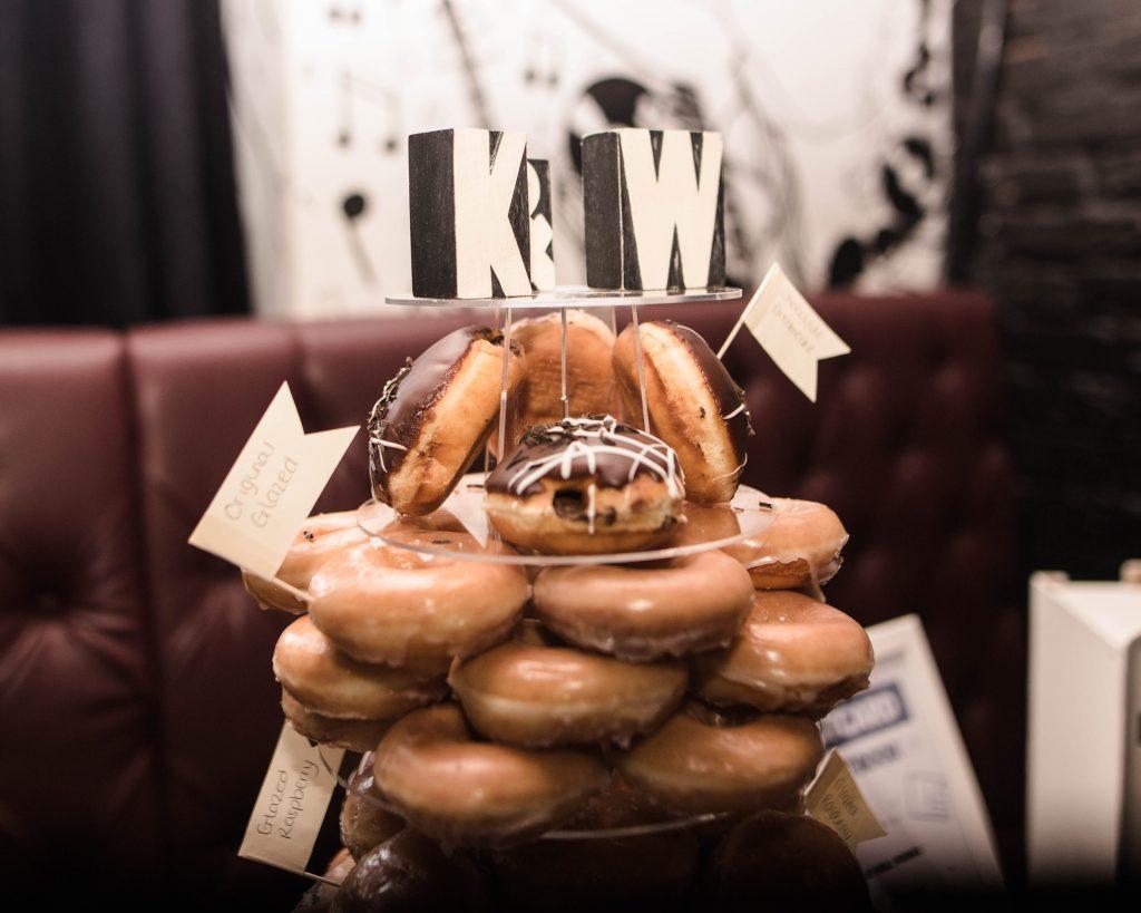 donut wedding cake in Manchester.