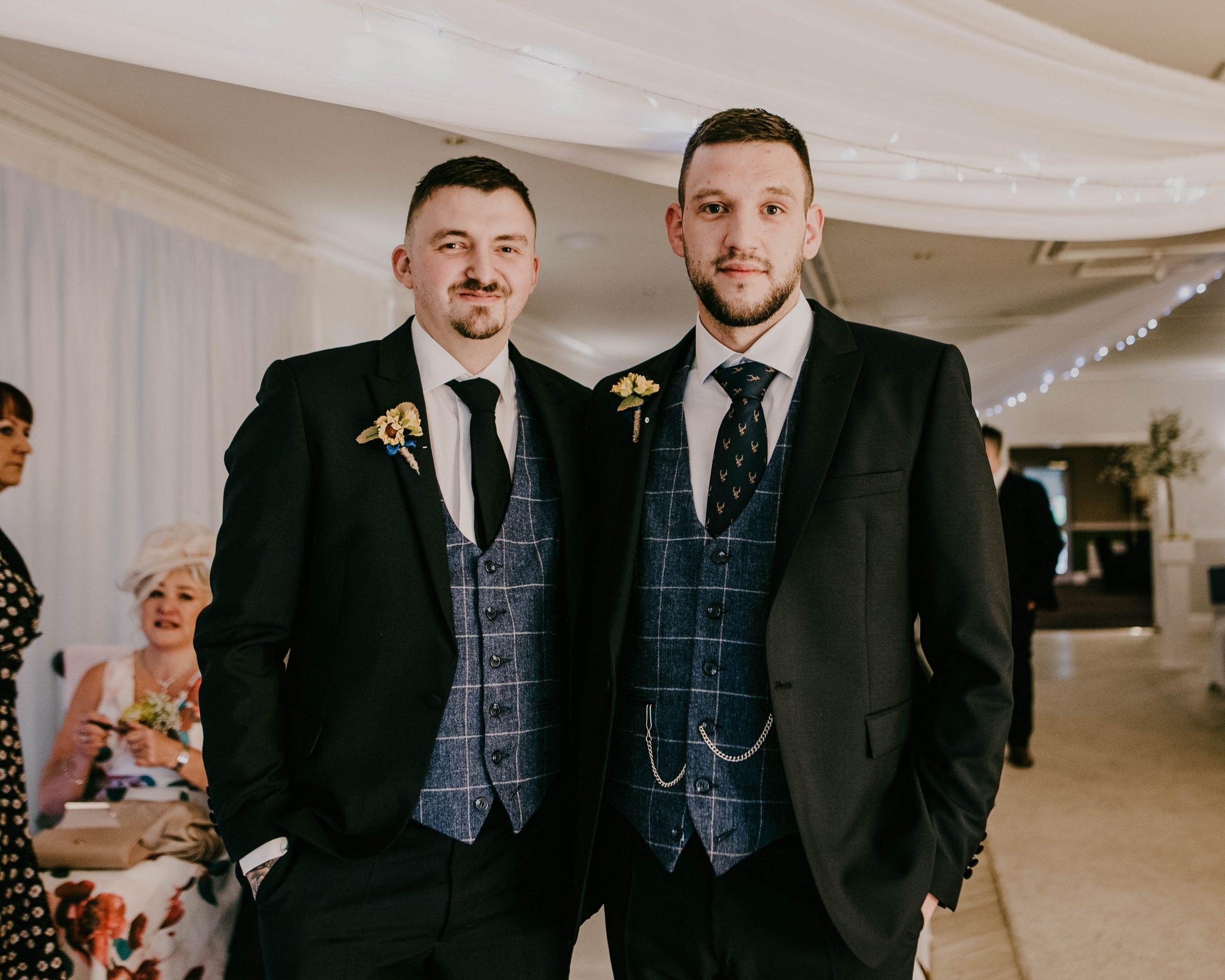 groom and his best man, Lancashire Wedding photography
