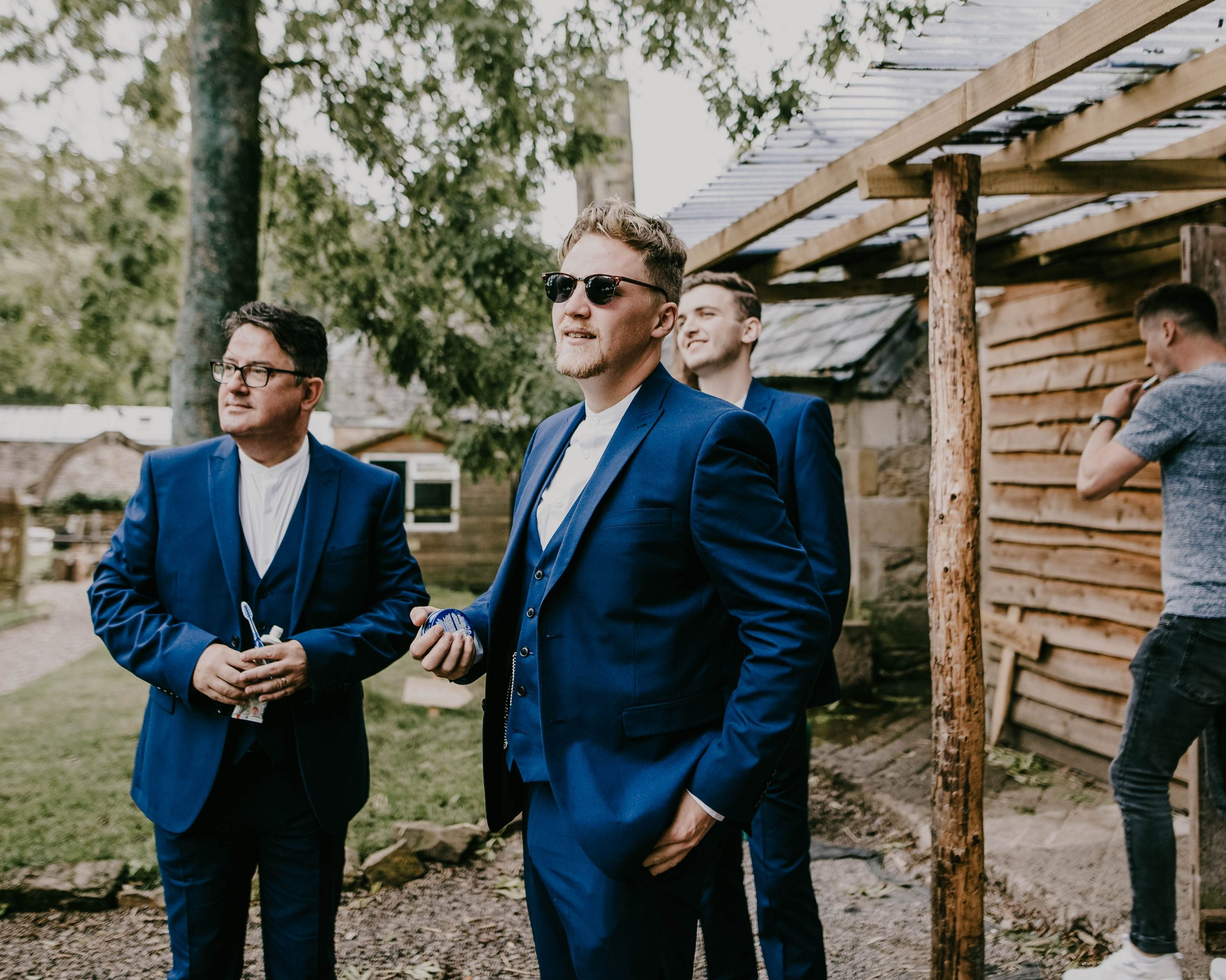 cool groom and his best man, Lancashire Wedding photography