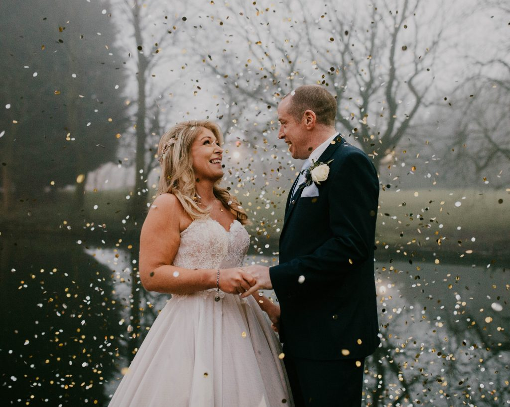 confetti faces at Bolholt country park hotel
