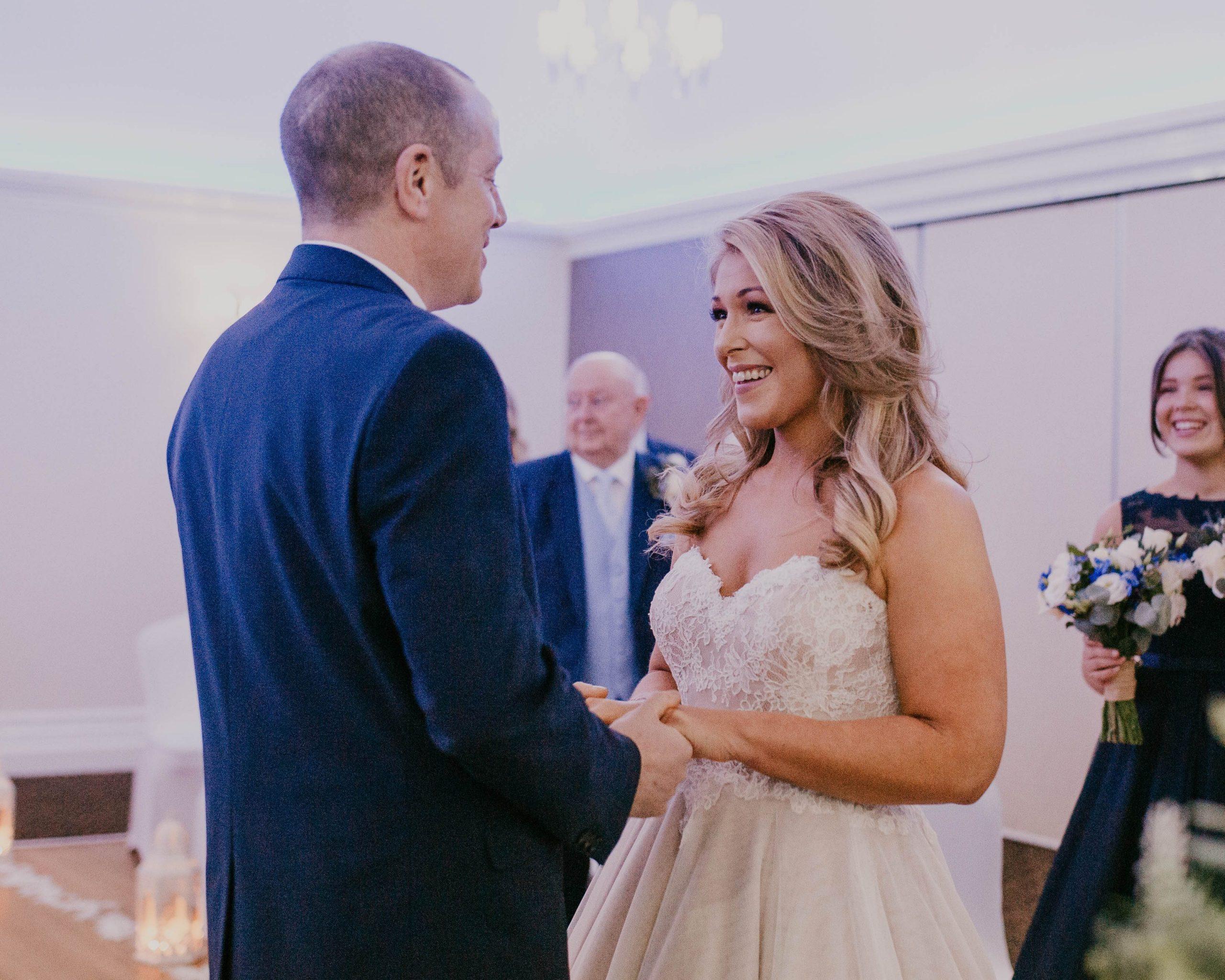 Bolholt wedding in lancashire, intimate wedding photography