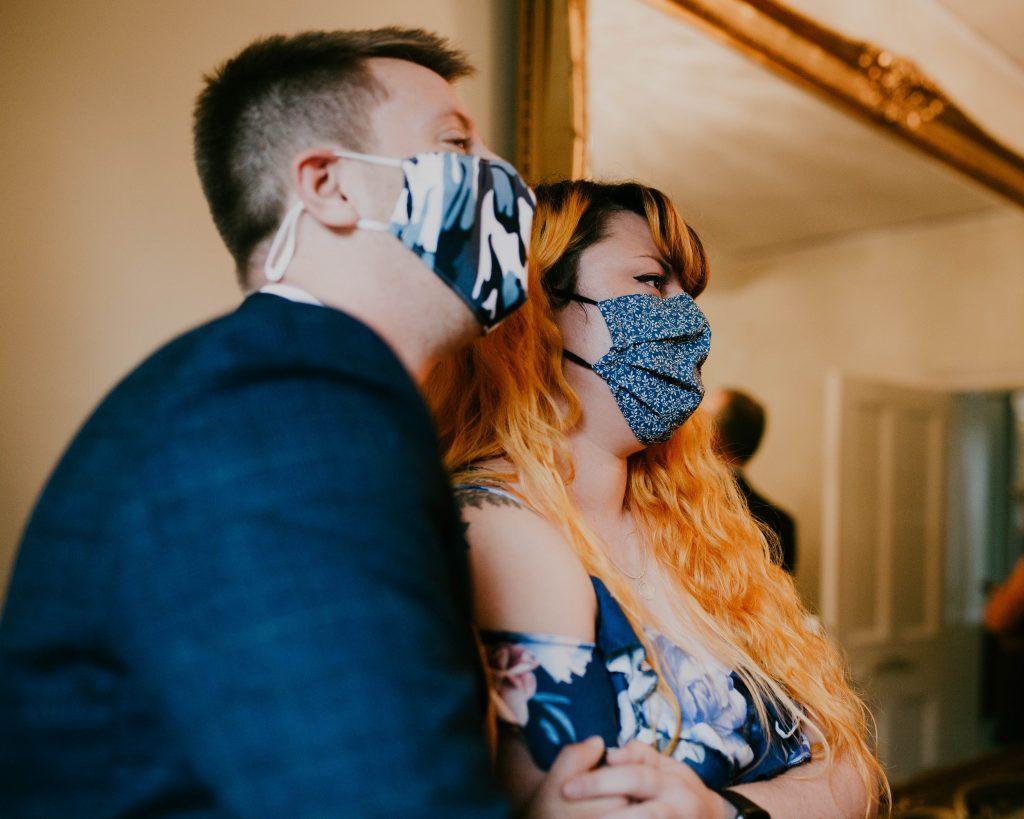 wedding guests wearing make, Lake District wedding